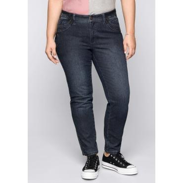 Große Größen: Schmale Stretch-Jeans KIRA, dark blue Denim, Gr.44-58