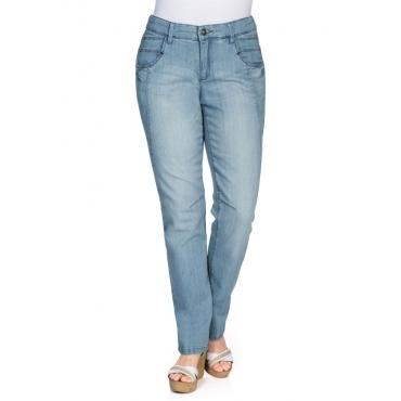 Große Größen: Schmale Stretch-Jeans KIRA, light blue Denim, Gr.40-116