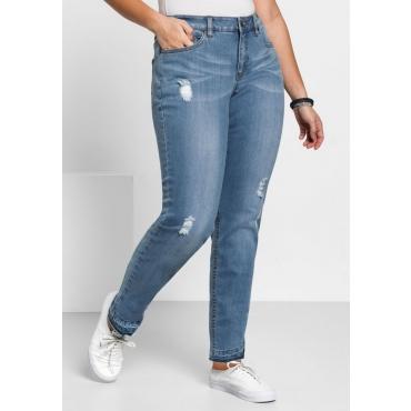 Große Größen: Schmale Stretch-Jeans KIRA, light blue Denim, Gr.40-58