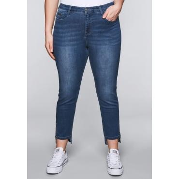 Große Größen: Schmale Stretch-Jeans KIRA mit Lyocell, blue Denim, Gr.44-58