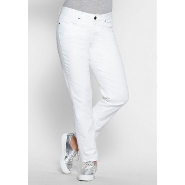Große Größen: Schmale Stretch-Jeans KIRA, white Denim, Gr.24-116