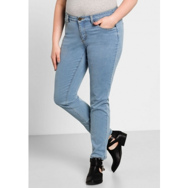 Große Größen: Schmale Stretch-Jeans, light blue Denim, Gr.40-58