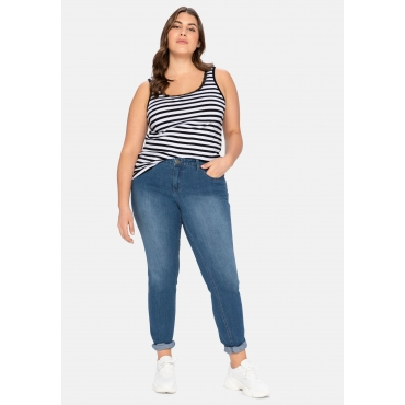 Schmale Stretch-Jeans SUSANNE, blue Denim, Gr.20-116