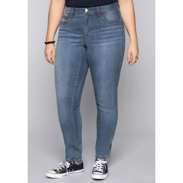 Große Größen: Schmale Stretch-Jeans VERENA, blue Denim, Gr.44-58