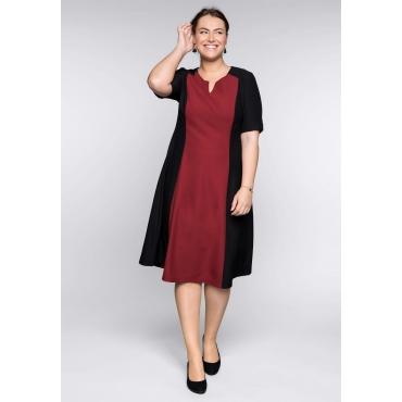 Große Größen: Bodyforming-Kleid in A-Linie mit Innenkleid, schwarz, Gr.44-58