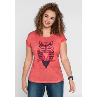 Große Größen: sheego Casual Shirt, flamingo, Gr.40/42-56/58