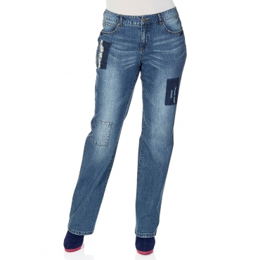 Große Größen: sheego Denim Gerade geschnittene Jeans, blue Denim, Gr.40-58