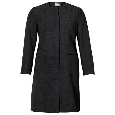 Große Größen: sheego Style Mantel mit rundem Kragen, schwarz, Gr.40-58