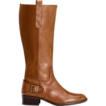 Große Größen: sheego XL/XXL-Weitschaft-Stiefel, cognac, Gr.37-44