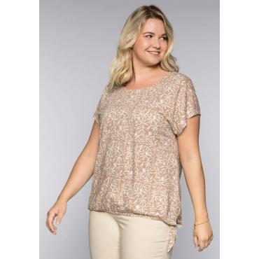Große Größen: Shirt aus Flammgarn, beigefarben, Gr.44/46-56/58