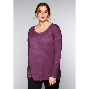 Shirt in Oil-washed-Optik, beere, Gr.44/46-56/58