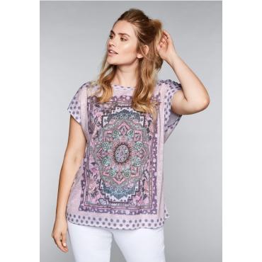 Große Größen: Shirt mit Druck, rosé bedruckt, Gr.44/46-56/58