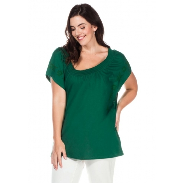 Große Größen: Shirt mit Flügelärmeln, grün, Gr.40/42-56/58