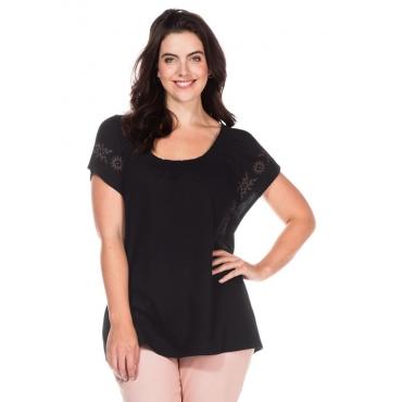 Große Größen: Shirt mit Flügelärmeln, schwarz, Gr.40/42-56/58