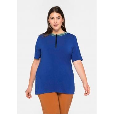 Shirt aus TENCEL™, mit Kontrasteinsatz im Rücken, royalblau, Gr.44/46-56/58