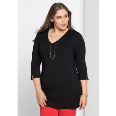 Große Größen: Shirt mit Bodyforming-Effekt, schwarz, Gr.40/42-56/58