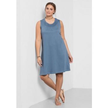 Große Größen: Shirtkleid mit Smok-Einsatz, blau, Gr.40-58