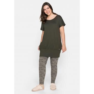 Shirtkleid mit Taschen, dunkeloliv, Gr.44-58