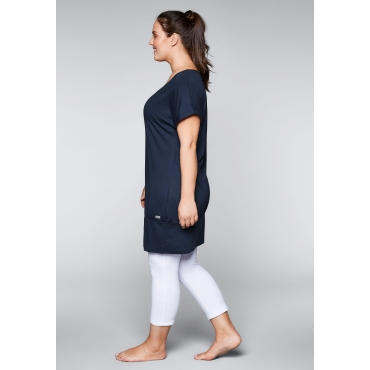Große Größen: Shirtkleid mit Taschen, marine, Gr.44-58