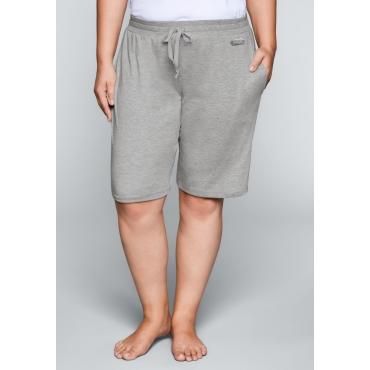 Große Größen: Shorts mit Bindeband, hellgrau meliert, Gr.44-58