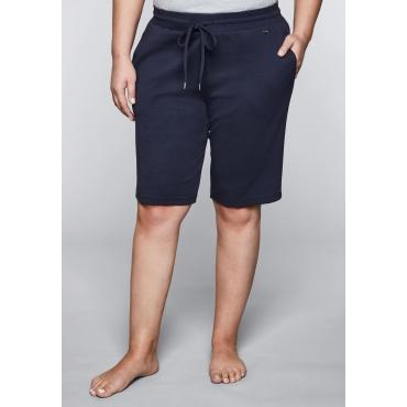 Große Größen: Shorts mit Bindeband, marine, Gr.44-58