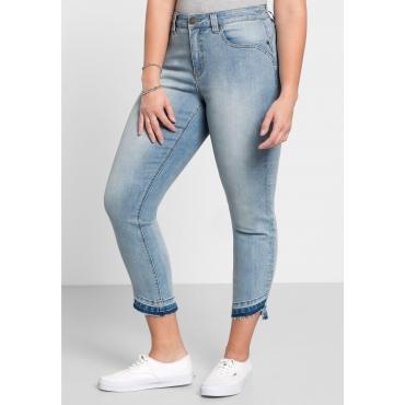 Große Größen: Skinny Jeans in Ankle-Länge, light blue Denim, Gr.40-58