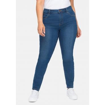 Skinny Jeans mit Knopflochgummi innen, blue Denim, Gr.40-58