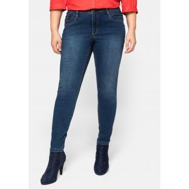 Skinny Jeans VERENA mit Schmucknieten, dark blue Denim, Gr.44-58