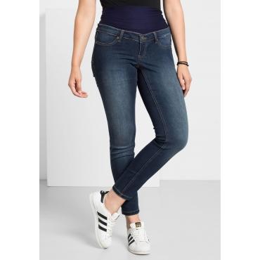 Große Größen: Skinny Power-Stretch-Jeans mit Jerseybund, blue Denim, Gr.40-58