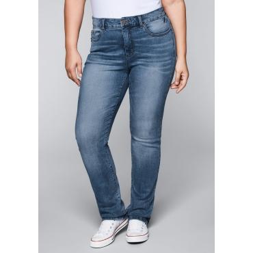 Große Größen: Gerade Stretch-Jeans mit Bodyforming-Effekt, blue Denim, Gr.22-104