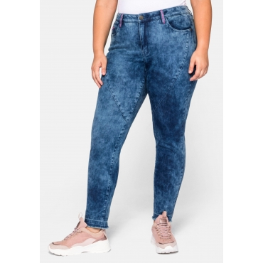 Slim Fit Jeans in Moonwashed-Optik, blue Denim, Gr.44-58