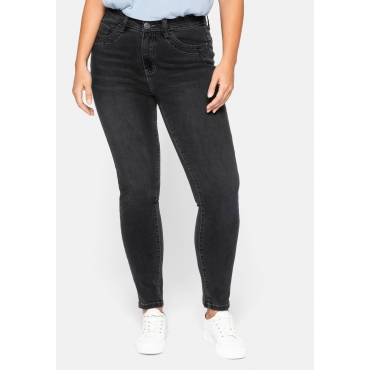 Slim Fit Jeans in Powerstretch-Qualität, black Denim, Gr.44-58