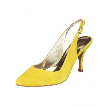 Große Größen: Slingpumps, gelb, Gr.35-43