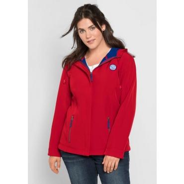 Große Größen: Softshell-Jacke mit Fleece-Innenseite, karminrot, Gr.40-58
