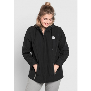 Große Größen: Softshell-Jacke mit Fleece-Innenseite, schwarz, Gr.40-58