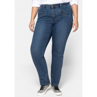 Straight Jeans mit Gummi am Bund, blue Denim, Gr.44-58