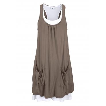 Große Größen: Beachtime Strandkleid, khaki, Gr.40-50