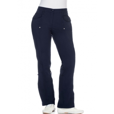 Große Größen: Stretch-Hose mit Krempelfunktion, marine, Gr.20-116