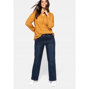 Stretch-Jeans ELI mit extra-weitem Beinverlauf, dark blue Denim, Gr.44-58