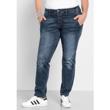 Große Größen: Stretch-Jeans im Boyfriend-Look, blue Denim, Gr.40-58