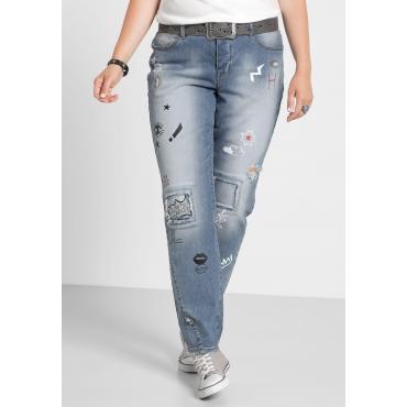 Große Größen: Stretch-Jeans im Boyfriend-Look, light blue Denim, Gr.40-58