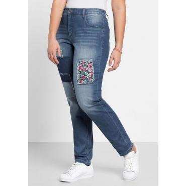 Große Größen: Stretch-Jeans in Boyfriend-Form, blue Denim, Gr.40-58