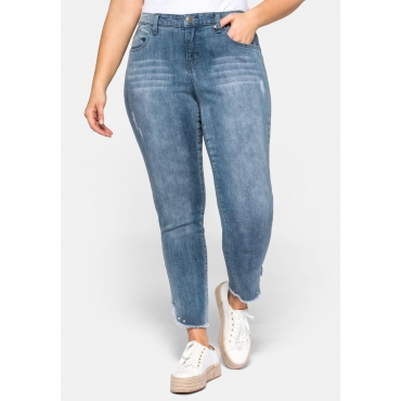Stretch Jeans SUSANNE in Ankle-Länge, blue Denim, Gr.44-58
