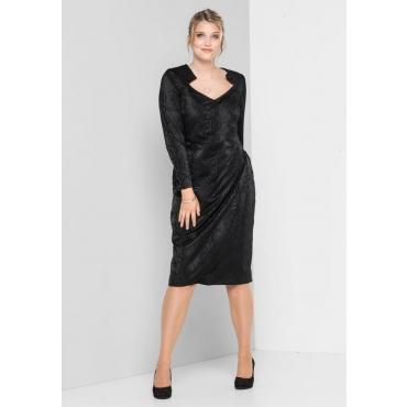 Große Größen: Stretch-Kleid in Animal-Optik, schwarz, Gr.40-58
