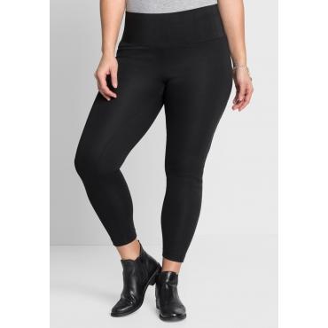 Große Größen: Stretch-Leggings in knöchelfreier Länge, schwarz, Gr.44-58
