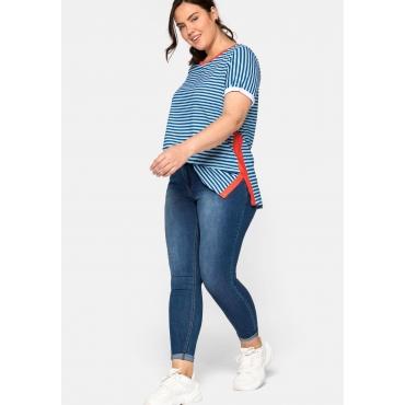 Super Skinny Jeans SUSANNE mit Kontrastnähten, blue Denim, Gr.44-58