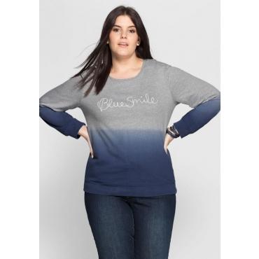 Große Größen: Sweatshirt im Farbverlauf, grau-blau, Gr.40/42-56/58