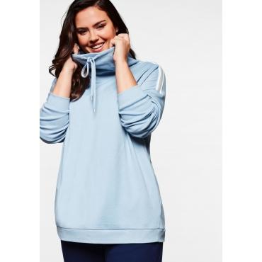 Sweatshirt in Interlock-Qualität mit Anti-Pilling, eisblau, Gr.44/46-56/58