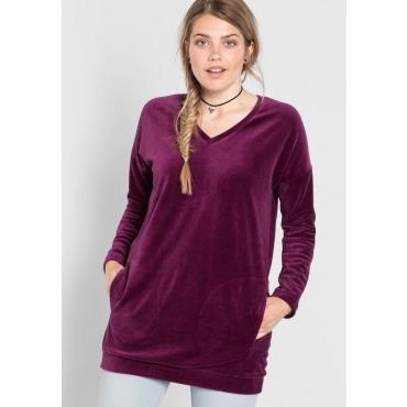 Große Größen: Sweatshirt in Oversize-Form, beere, Gr.40/42-56/58