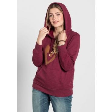 Große Größen: Sweatshirt mit Kapuze, bordeaux, Gr.40/42-56/58